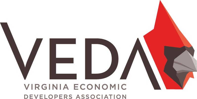The Virginia Economic Developers Association unveiled its new logo at a convention in Williamsburg last week. (Courtesy of VEDA)