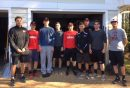 Players from Walsingham's baseball team helped volunteer at Hospice House. (Photo courtesy of Hospice House)