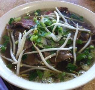 A bowl of Vietnamese noodle soup from Pho 79. (Elizabeth Hornsby/WYDaily)
