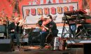 Bruce Hornsby and Ross Holmes play a bluegrass duet with the Noisemakers on Sunday night at Funhouse Fest. (Adrienne Berard/WYDaily)