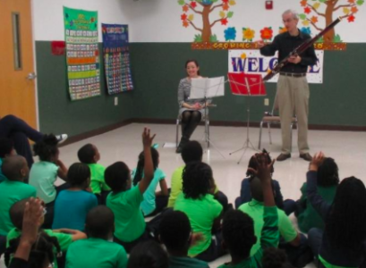 """A """"Family Night' hosted by the Virginia Symphony Orchestra as part of the Harmony Project. (Courtesy VSO)"""