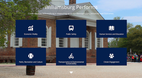 The City of Williamsburg's new performance management website was unveiled to the City Council last week.