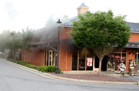 Tropical Smoothie Cafe is closed after a structure fire June 30, 2016. (Photo courtesy of James City County)