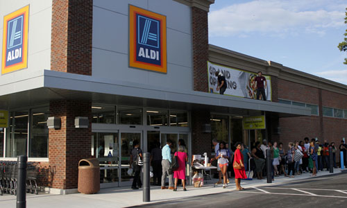 Aldi's Williamsburg location. (Adrienne Berard/WYDaily)