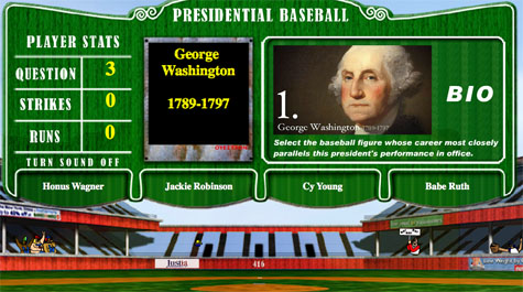 Manna and Goldman compared George Washington to either Honus Wagner, Jackie Robinson, Cy Young, or Babe Ruth. (Photo Courtesy of Paul Manna and Jerry Goldman)