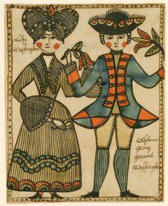 Folk art couple at AARFAM