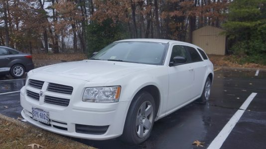 Wright was driving this Dodge Magnum when he was arrested on Sept. 23, 2011. (Steve Roberts, Jr./WYDaily)