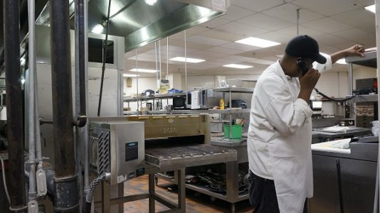 Wright has been working in the kitchen at the Doubletree hotel in Williamsburg for the past three years. (Steve Roberts, Jr./WYDaily)