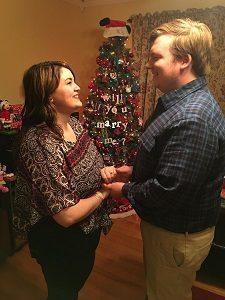 Amanda Richardson and Kyle Harvey are engaged to be married on May 5, 2018.