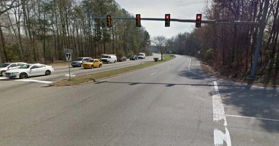 Intersection of Route 199 and Brookwood Drive. (Courtesy Google Maps)