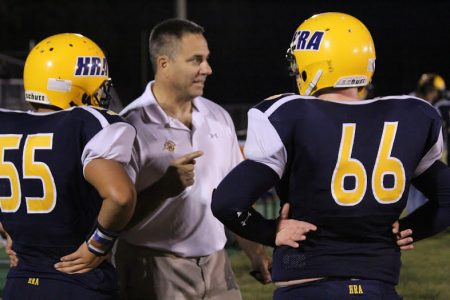 Hampton Roads Academy's new head football coach Ron Dechirico.