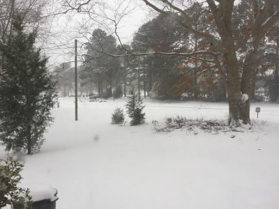 Snow on Waller Mill Road, Saturday, Jan. 7.