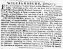 A snippet of the article published in 1774.  (Courtesy Virginia Gazette)