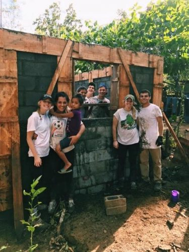 William & Mary student Brandon Posner, right, and his fellow alternative breakers help build a house in Campuzano, Nicaragua last month. (Photo courtesy Brandon Posner)