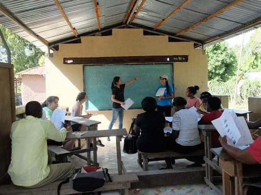 William & Mary students teach a class in Cap-Haïtien, Haiti last month. (Photo courtesy Jose Acuna)