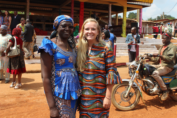 Alumna Casey Douma is a community heath volunteer currently serving in Cameroon. (Courtesy Peace Corps)
