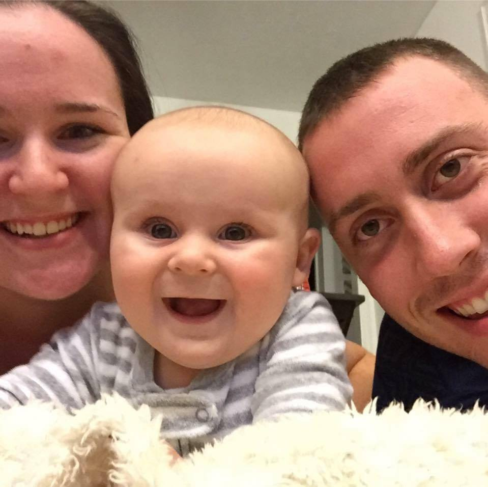 Amber Fox's husband, James, has been working dozens of hours of mandatory overtime for several as a firefighter with York County Fire & Life Safety. (Courtesy Amber Fox)