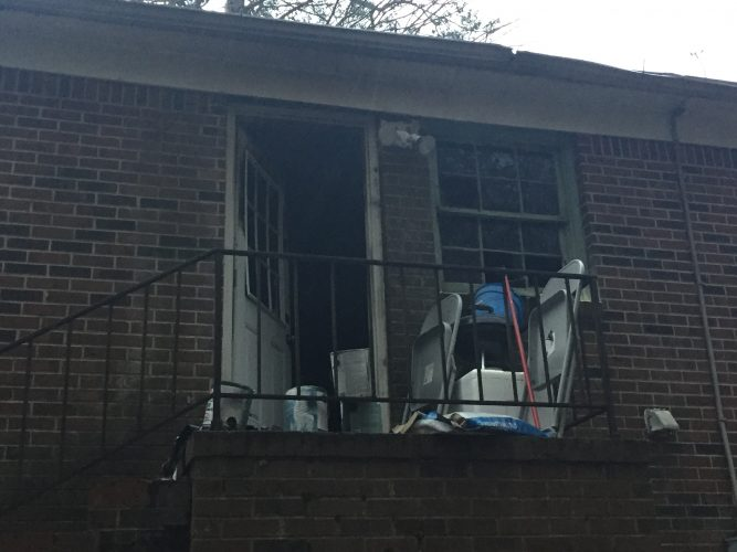 Fire damage to a home in the 200-block of Tyler Brooks Drive in Williamsburg. (Courtesy Larry Snyder)