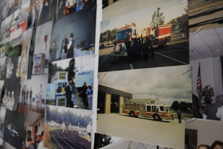 Old photographs line the walls at York County firefighter's union headquarters. (Sarah Fearing/WYDaily)