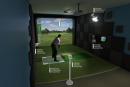 A representation of the golf simulators produced by HD Golf. (Courtesy Revolution Golf and Grille)