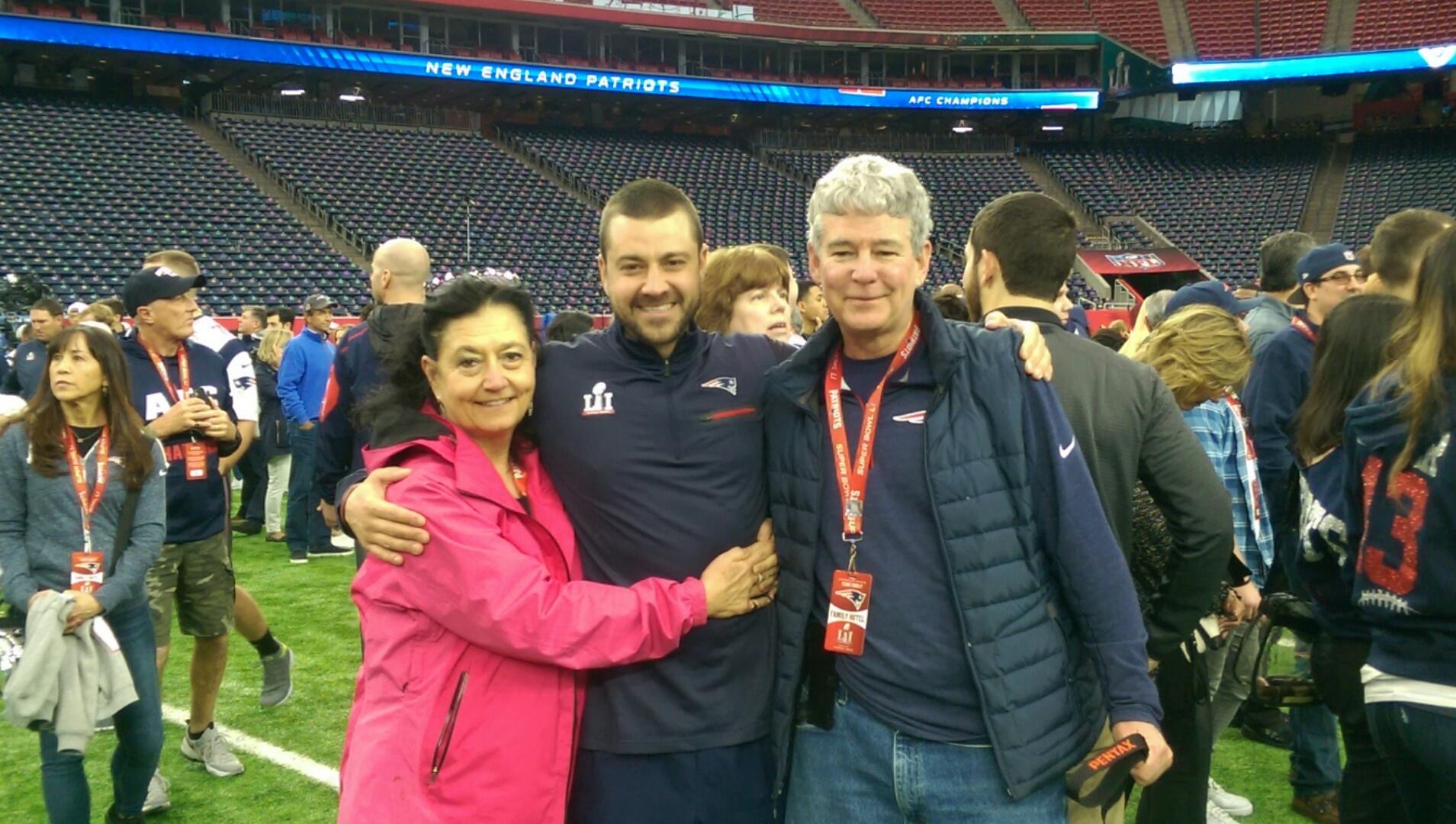 Williamsburg native James Hardy was on the sidelines Feb. 5, experiencing the largest Super Bowl comeback in history. (Courtesy James Hardy)