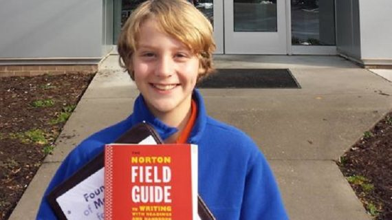 Meet Ronnie Littman, your resident 12-year-old college student