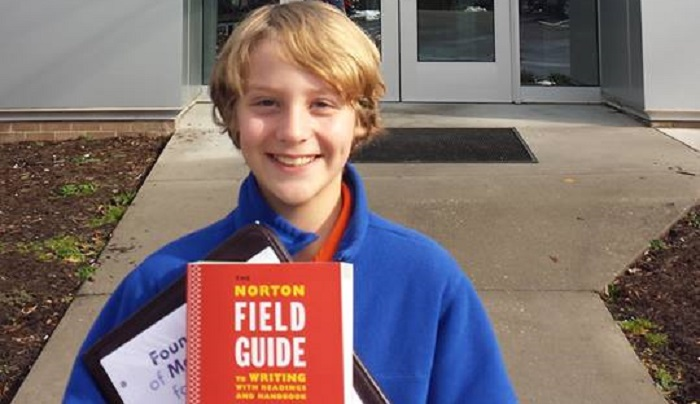 In January, 12-year-old Ronnie Littman, who passed the college entrance exam at aged ten, began taking courses at Rappahannock Community College in the Northern Neck. (Courtesy Denise Littman)