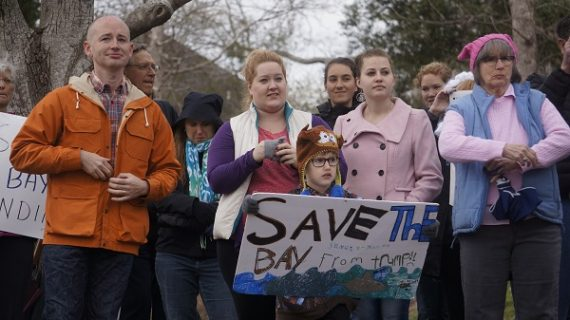 100-plus rally against Trump's plan to defund Chesapeake Bay cleanup efforts