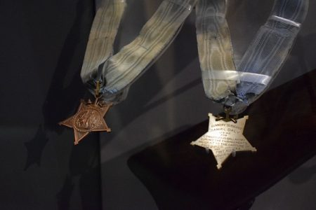 The Medals of Honor received by Daniel Daly. Photo courtesy Ben Swenson
