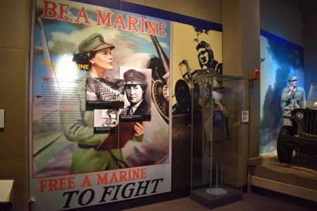 Part of an exhibit on women in the Marine Corps. Photo courtesy Ben Swenson
