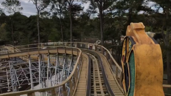 VIDEO: Busch Gardens' first wooden coaster 'InvadR' opens to public