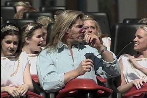 Years before InvadR, Fabio struck by goose at Busch Gardens coaster launch