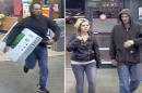 """Authorities are searching for a man and his """"female accomplice,"""" who police say ran a scheme to steal televisions from a Tabb Walmart. (Courtesy YPSO)"""