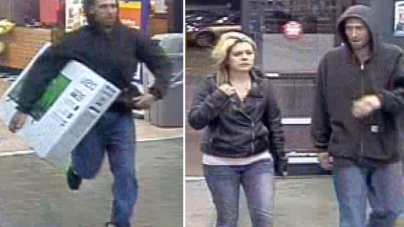 York police seek alleged TV thief and 'female accomplice'