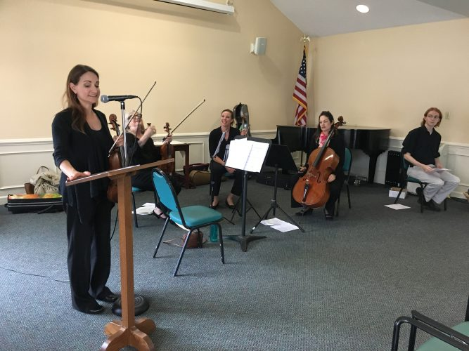 """Virginia Symphony Orchestra's """"Generations in Unison"""" program brings music to the elderly, specifically those with dementia, and engages them in music making. (Courtesy VSO)"""