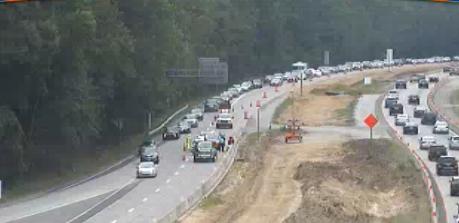 UPDATE: Lanes reopen after crash causes 4-mile backup on I-64