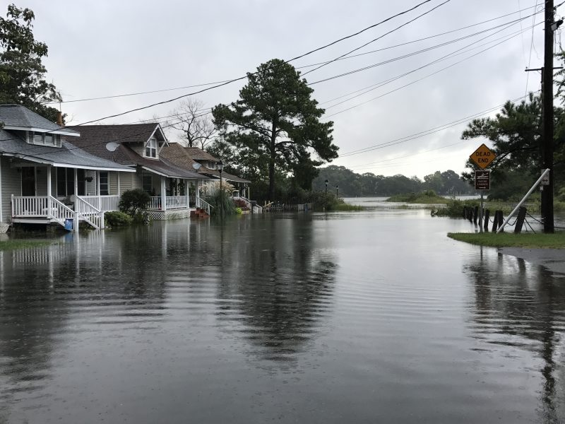Coastal flooding in the Riverview section of Norfolk in September 2017 (Southside Daily photo)