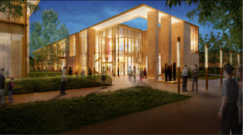 Captivating A Rendering Shows The Design That Has Been Approved For The New Music  Building On The