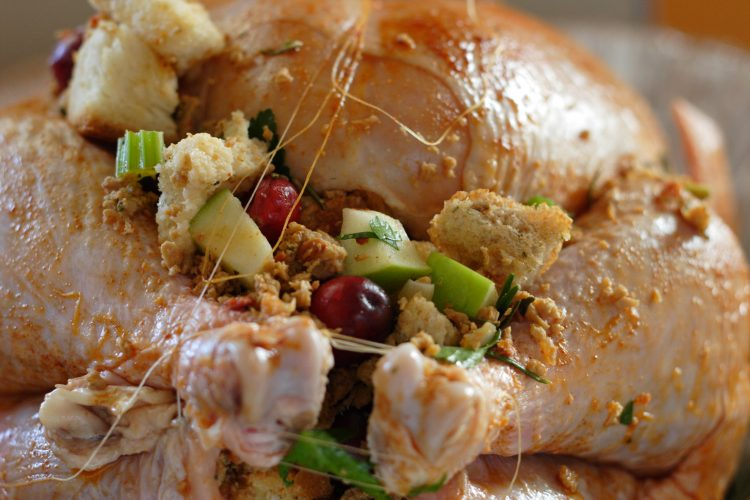 Avoid putting stuffing in your turkey: the stuffing might not reach a hot enough temperature to kill dangerous bacteria. (file photo/Brian Teutsch)