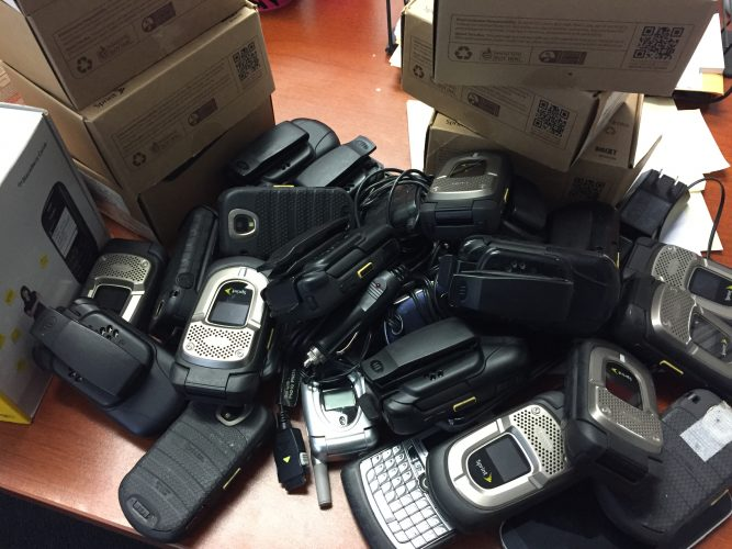 The phones can be returned to manufacturers for monetary credit which will be used to provide care for victims of sexual and domestic abuse. (Photo courtesy of Sara Mahayni)