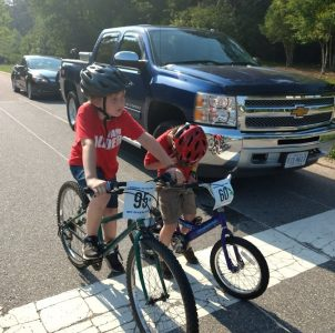 Part of the issue for cyclists in Williamsburg is the safety aspect. Gretchen Bedell said that often, motorists aren't aware of the cyclists going through intersections, which makes her nervous for her children's safety. (WYDaily/Courtesy of Gretchen Bedell)