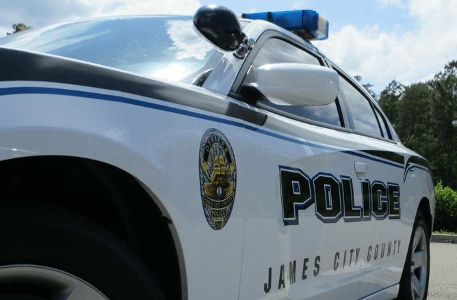 A James City County Police car