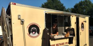 The Hungry Pug food truck, parked outside Alewerks. (WYDaily/ Andrew Harris)