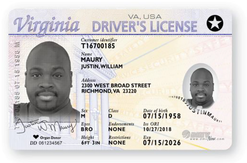 Daily Now Real Virginia Monday Offering Williamsburg Id Yorktown Dmv Federally-compliant