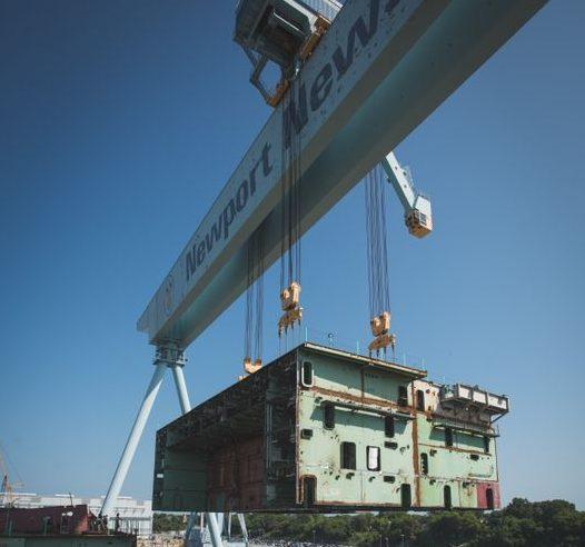 John F. Kennedy (CVN 79) at Newport News Shipbuilding (Southside Daily Photo/ Courtesy of Huntington Ingalls Industries)