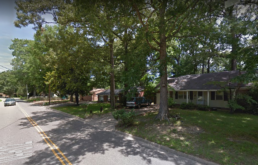 A Google Maps screenshot shows a stretch of Longhill Road where the City of Williamsburg owns some properties that are rented to city employees as workforce housing. (WYDaily/Courtesy of Google Maps)