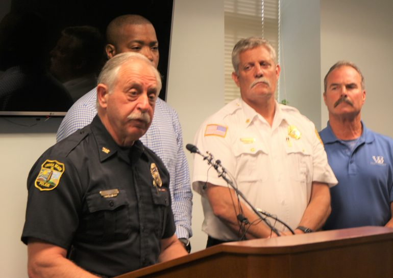 Virginia Beach Police Chief James Cervera talks to press about details surrounding an active shooter at the Virginia Beach Municipal Center on Friday May 31, 2019. (Southside Daily/Lucretia Cunningham)