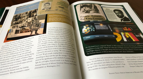 The illustrated history tracks the advancement of African-American students, faculty and administrators at William & Mary over the last five decades, as well as changes in Williamsburg over time. (WYDaily/Courtesy of Cortney Will)