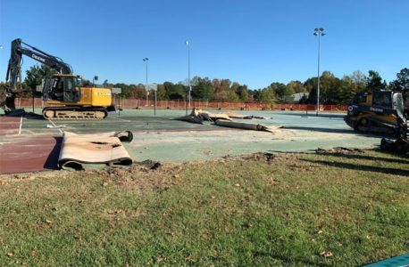 Veterans Park tennis courts will be closed for eight to ten weeks. (WYDaily/Courtesy James City County)