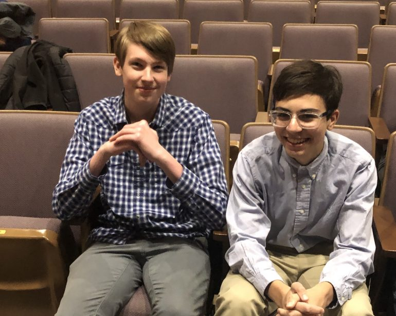 Julian Curtis-Zilius and Zakeri Reckmeyer are seniors at Warhill High School that won the Congressional App Challenge for Virginia's 2nd District. (WYDaily/Courtesy Nicole Neal)